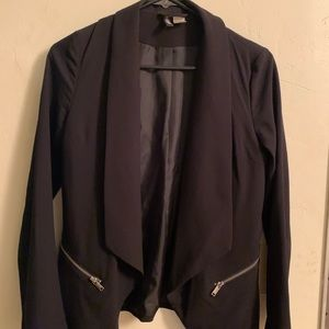 Black H&M blazer long sleeve with zippers
